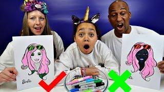 Video 3 MARKER CHALLENGE With Barbie - MUM VS DAD Edition MP3, 3GP, MP4, WEBM, AVI, FLV Juni 2018