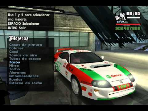 Grand Theft Auto San Andreas ( Tuneando el coche de Cj - Loquendo )