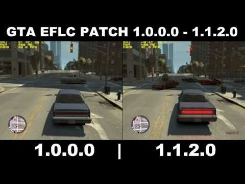 GTA EFLC PATCH 1.0.0.0 VS 1.1.2.0 Comparisons FPS/GPU USAGE. software kies