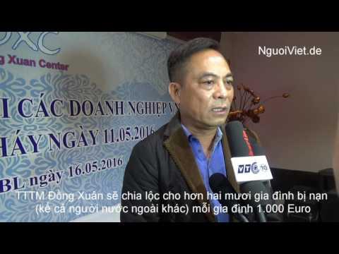 TTTM Đồng Xuân chia sẻ với các DNVN bị thiệt hại cháy