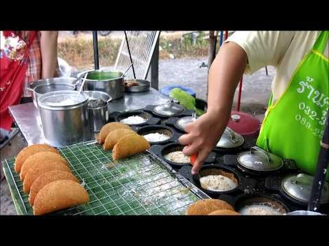 PHUKET THAI STREET FOOD MARKET: RICE DONUTS COOKED IN FRONT OF YOU Travel Thailand