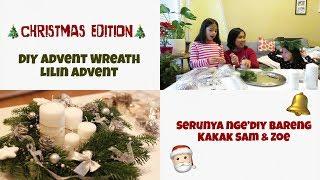 Video DIY ADVENT WREATH BARENG DUO GADIS MAMAK 😁 MP3, 3GP, MP4, WEBM, AVI, FLV Desember 2018