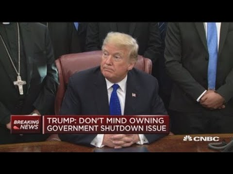 President Trump: I don't mind owning government shutdown