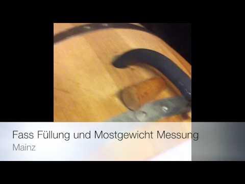 Riesling Im Holzfass, Mostgewicht messen