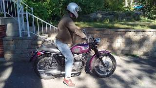 8. Triumph T100S Morning Start-up and Run