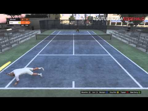 GTA V: I SUCK AT TENNIS GAMEPLAY – DIVES AND QUOTES