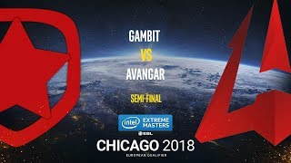 Gambit vs AVANGAR - IEM Chicago 2018 EU Quals - map1 - de_cache [ceh9]