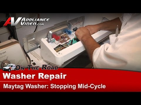 Washer Repair – Stopping Mid-Cycle – Maytag – MVWC450XW4