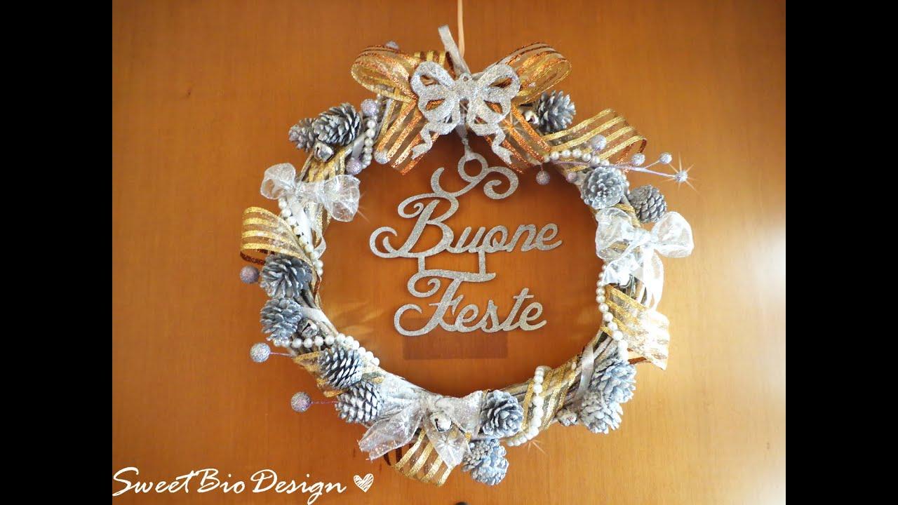GHIRLANDA BUONE FESTE ♥ Ghirlanda personalizzata per Natale ♥ VIDEOTUTORIAL