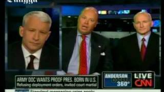Anderson Cooper Slams 'Birther' Army Officer For Hiding Behind His Lawyer During Interview