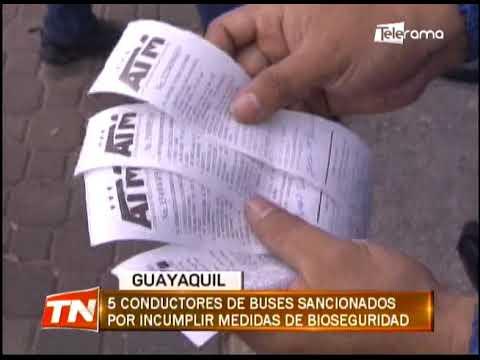 5 conductores de buses sancionados por incumplir medidas de bioseguridad