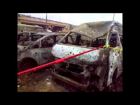 bomb - A car bomb planted in a Volkswagen Golf car exploded at a crowded bus station in Nyanya, a suburb of Nigeria's capital, Abuja, on Monday. The early morning b...
