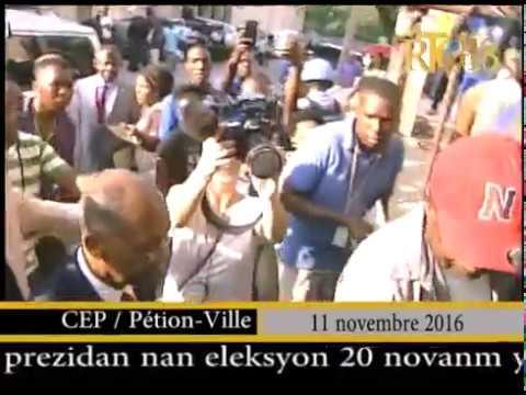 Maryse Narcisse, la candidate à la présidence de Fanmi Lavalas, a répondu à la convocation du CEP.
