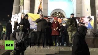 Митингующие провели ночь на Майдане