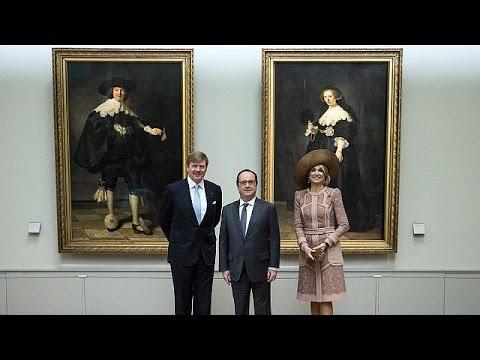 Στο Παρίσι το βασιλικό ζεύγος της Ολλανδίας