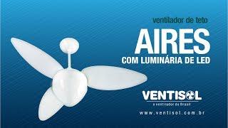 Ventilador de Teto Aires com Luminária de LED