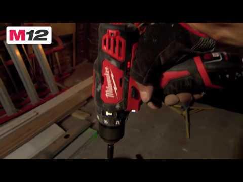 Видео Дрель-шуруповерт Milwaukee M12 BPD-202С