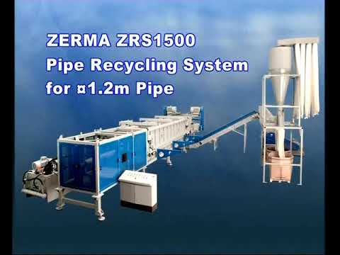 ZERMA ZRS1500 Shredding/Granulating/Recycling System for up to 1.2m Pipe