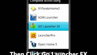 Cyan Honeycomb GO Launcher EX YouTube video