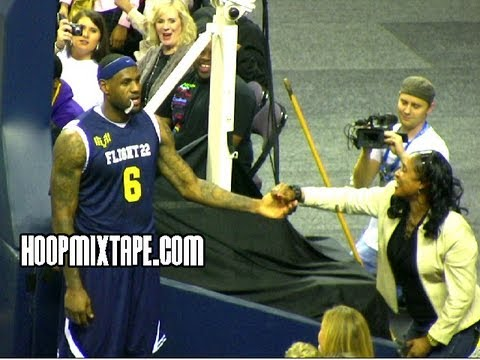 LeBron Dunks And Gives Lady No Love