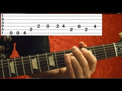 Back In Black by AC/DC – Guitar Lesson – Beginners