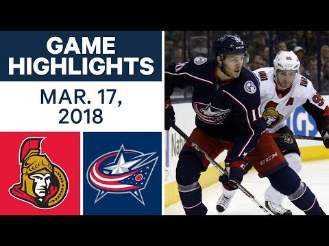 Video: NHL Game Highlights | Senators vs. Blue Jackets - Mar. 17, 2018
