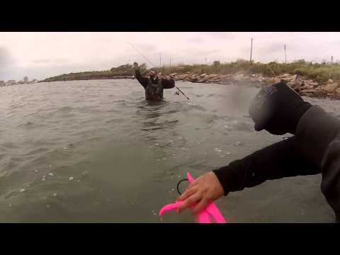 Wade Fishing for Flounder – Wolf Park, Galveston