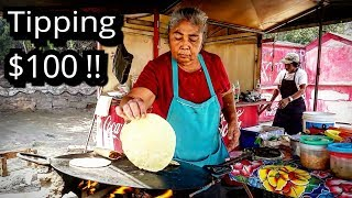 Video TIPPING $100 Dollars - MEXICAN Street Food - MONEY Sent From SUBSCRIBERS!!! MP3, 3GP, MP4, WEBM, AVI, FLV September 2019