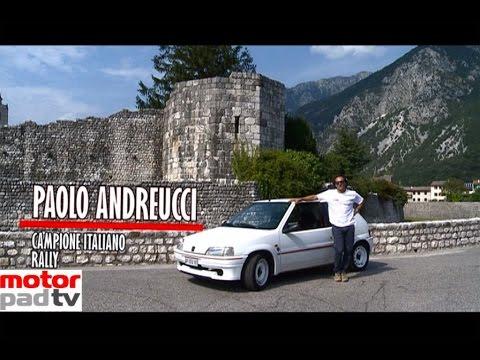 paolo andreucci e la peugeot 106 rallye, la sua prima vettura da rally.