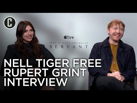 Servant: Nell Tiger Free and Rupert Grint Interview (Apple TV+)