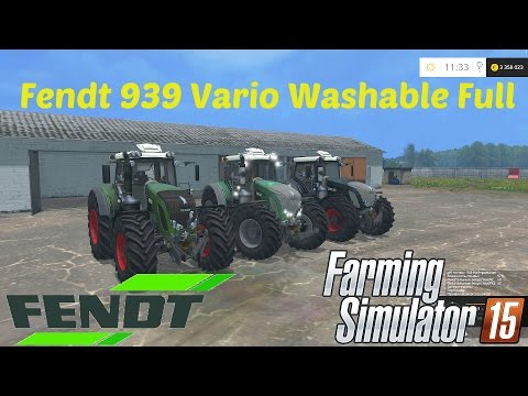 Fendt 939 Vario Washable Full