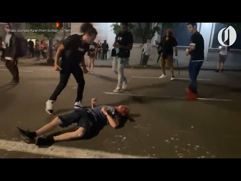 Portland protesters beat driver unconscious after crashing truck near Black Lives Matter rally