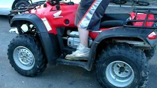 10. 2004 rancher 400 4x4 walkaround and ride