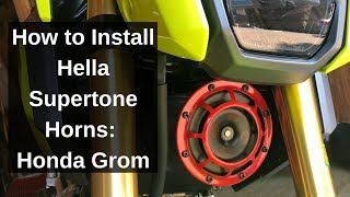 9. How to Install Hella Supertone Horns: 2018 Honda Grom Build Series