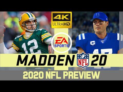 Green Bay Packers @ Indianapolis Colts - NFL 2020 Week 11 - Madden Simulation - 4K