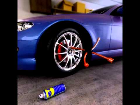 WD-40® Multi-Use Product Frees Stuck Lug Nuts