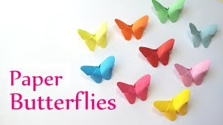 DIY crafts: Paper BUTTERFLIES (very EASY) - Innova Crafts - YouTube