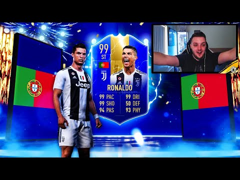 OMG WE PACKED TOTS RONALDO!! TOP 100 FUT CHAMPIONS REWARDS - Fifa 19 Ultimate Team