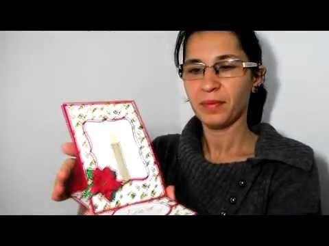 Cum se face o Felicitare de Crăciun șevalet cu crăciuniță5