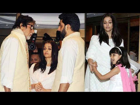 Aishwarya Rai With Aaradhya Bachchan And Abhishek