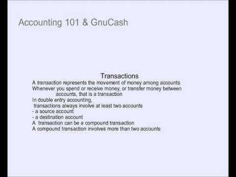 Accounting tutorial – Double Entry Bookkeeping and GnuCash
