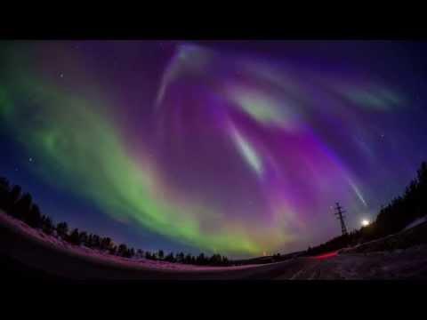 Северное сияние 06.04.2014 (видео)