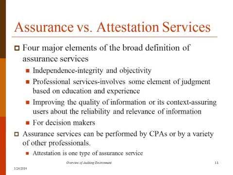 auditing attestation assurance