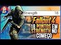 Fallout 4 18 Pontos Em Strength No Come o Do Jogo