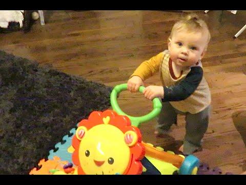 TEACHING BABIES HOW TO WALK