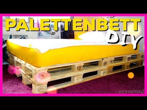 DIY PALETTENBETT mit Eve Matratze - |#WOHNPRINZ