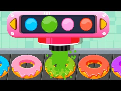Baby Panda's Cafe - Fun Kids Kitchen Cooking Games - Baby Bus Learn Colors Cooking For Children