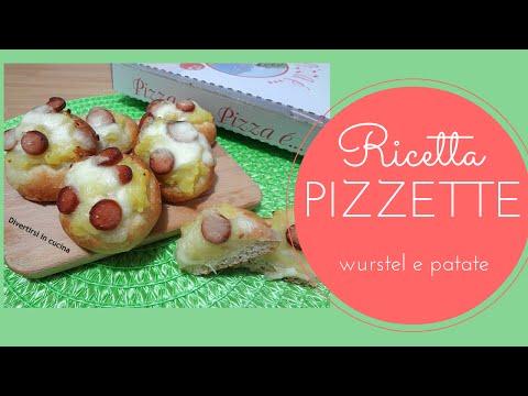 video ricetta: pizzette patate e wurstel.