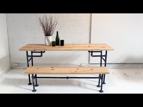 HomeMade Modern, Episode 3 — DIY Wood + Iron Table