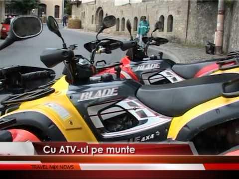 Adrenalină, cu ATV-ul pe munte – VIDEO